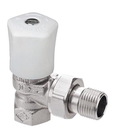 Heimeier radiatorkraan type handbediende mikrotherm haaks