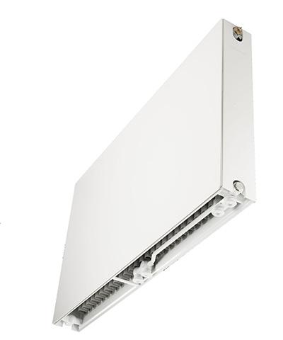 thermrad super 8 plateau radiator vlakke voorplaat onder aansluiting