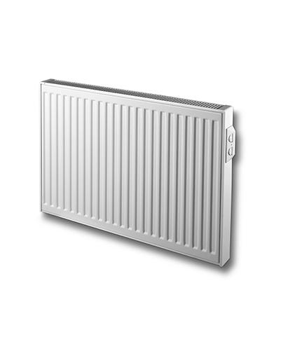Vasco E-panel elektrische radiator horizontaal met geribbelde voorplaat 600 x 800mm (HxL). 1000 Watt RAL 9016