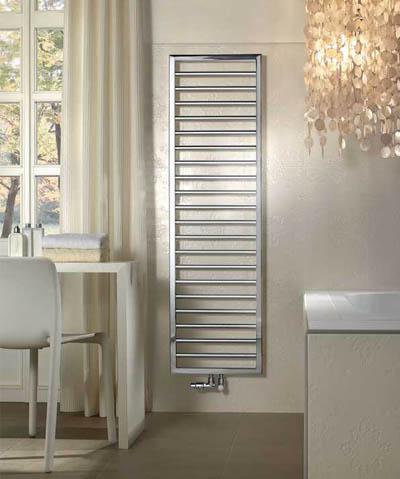 Zehnder Subway Hybride handdoekradiator  1869 x 600 mm Chroom - ingebouwd elektropatroon 600W
